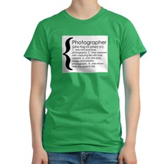 photograph def Women's Fitted T-Shirt (dark)