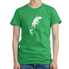Gecko Icon Women's Fitted T-Shirt (dark)