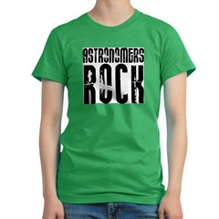 Astronomers Rock Women's Fitted T-Shirt (dark)