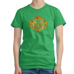 Medieval Floral Women's Fitted T-Shirt (dark)