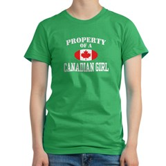 Property of a Canadian Girl Women's Fitted T-Shirt (dark)