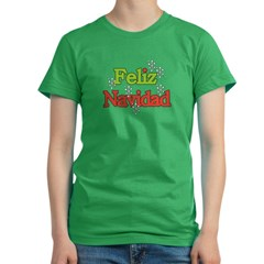 Feliz Navidad Women's Fitted T-Shirt (dark)