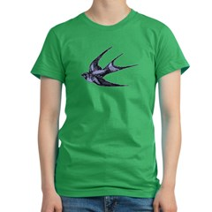 Swallow Women's Fitted T-Shirt (dark)