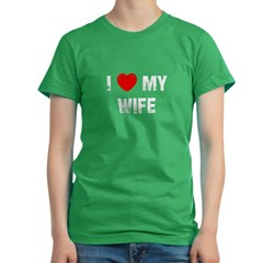 I * My Wife Women's Fitted T-Shirt (dark)