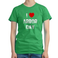 I * Arbor Day Women's Fitted T-Shirt (dark)
