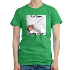 Jon Tester Toilet Brush Women's Fitted T-Shirt (dark)