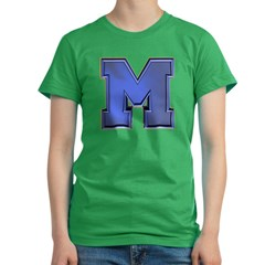 M Go Blue Women's Fitted T-Shirt (dark)