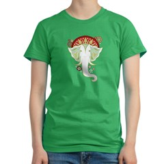 White Elephant - Women's Fitted T-Shirt (dark)