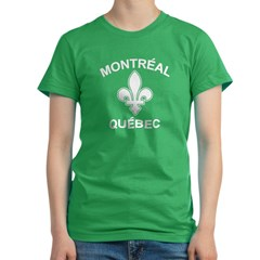 Montreal Quebec Women's Fitted T-Shirt (dark)