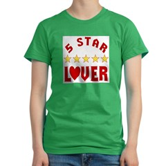 5 Star Lover Women's Fitted T-Shirt (dark)