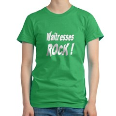 Waitresses Rock ! Women's Fitted T-Shirt (dark)