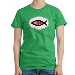 Buddah Fish Women's Fitted T-Shirt (dark)