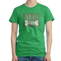 Mutts Rule Green Women's Fitted T-Shirt (dark)