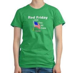 Red Friday (yellow ribbon) Women's Fitted T-Shirt (dark)