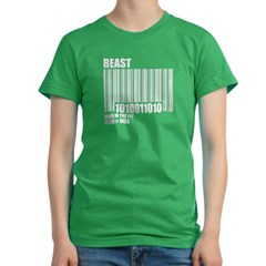 Bar Code of the Beas Women's Fitted T-Shirt (dark)
