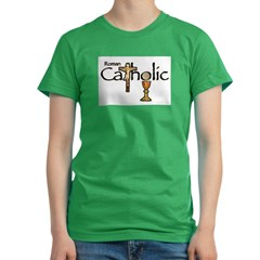 Proud to be Catholic Women's Fitted T-Shirt (dark)