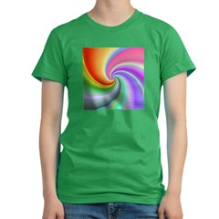 Rainbow Spiral Women's Fitted T-Shirt (dark)