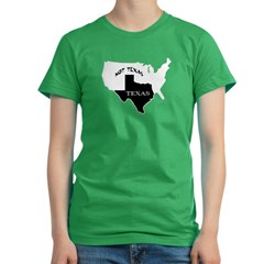 Texas / Not Texas Women's Fitted T-Shirt (dark)