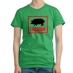 Lechon Women's Fitted T-Shirt (dark)