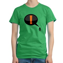 exclamation-dark Women's Fitted T-Shirt (dark)