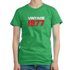 """Vintage"" Vintage 1977 Birthd Women's Fitted T-Shirt (dark)"