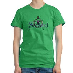 Scotland: Thistle Women's Fitted T-Shirt (dark)