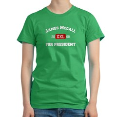 James McCall for Presiden Women's Fitted T-Shirt (dark)