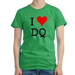 I Love DQ Women's Fitted T-Shirt (dark)
