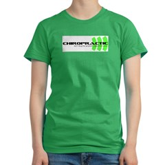 green Women's Fitted T-Shirt (dark)