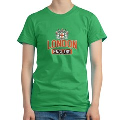 London England Women's Fitted T-Shirt (dark)
