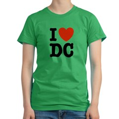 I Love DC Women's Fitted T-Shirt (dark)