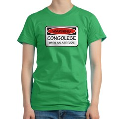 Attitude Congolese Women's Fitted T-Shirt (dark)