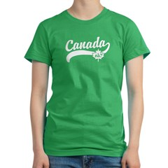 Canada eh? Women's Fitted T-Shirt (dark)