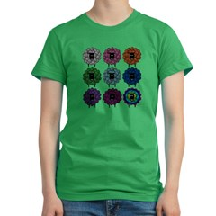 lt_9up_coloredsheep Women's Fitted T-Shirt (dark)