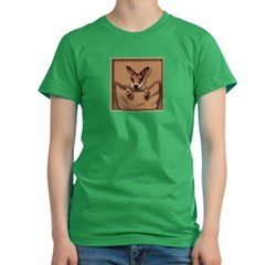 joey roo unlettered.jpg Women's Fitted T-Shirt (dark)