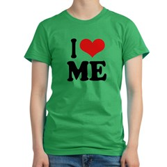 I Love Me Women's Fitted T-Shirt (dark)