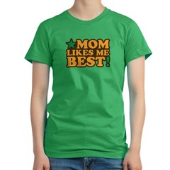 Mom Likes Me Bes Women's Fitted T-Shirt (dark)