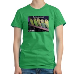 """Parakeet Humor #7"" Women's Fitted T-Shirt (dark)"