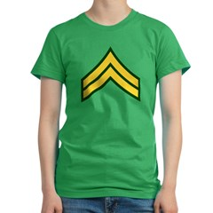 "Army E4 ""Class A's"" Women's Fitted T-Shirt (dark)"