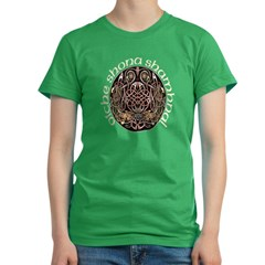 Gaelic Celtic Design Women's Fitted T-Shirt (dark)