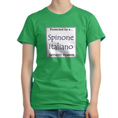 Spinone Security Women's Fitted T-Shirt (dark)