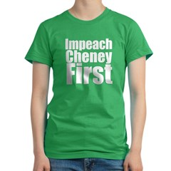 Impeach Cheney Firs Women's Fitted T-Shirt (dark)