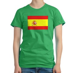 Spanish Flag Women's Fitted T-Shirt (dark)