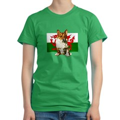 Welsh Corgi Women's Fitted T-Shirt (dark)