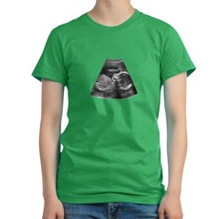 Sonogram Women's Fitted T-Shirt (dark)