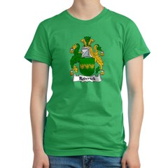 Roderick Family Crest Women's Fitted T-Shirt (dark)