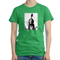 Sitting Bull Women's Fitted T-Shirt (dark)