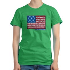 Flag Pledge of Allegiance Women's Fitted T-Shirt (dark)