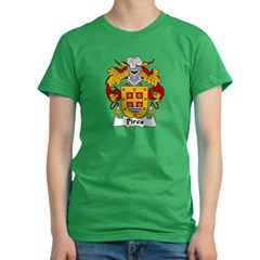 Pires Family Crest Women's Fitted T-Shirt (dark)