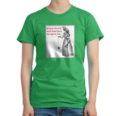 Suffering Suffragette Women's Fitted T-Shirt (dark)